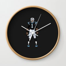 Keep Pounding - Cam Newton Wall Clock
