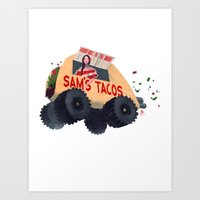 Sam's Monster Taco Truck Art Print