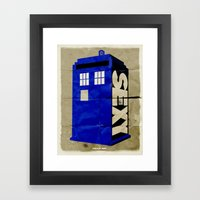 Minimalist Doctor Who  -… Framed Art Print