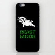 Beast Mode Pug iPhone & iPod Skin