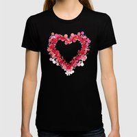 Be Still My Heart Womens Fitted Tee Black SMALL