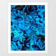 Days Blue By Art Print