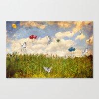 Pegasus and Balloons Canvas Print