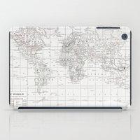 World Map ~ White on White iPad Case