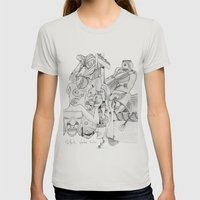 Airplane Womens Fitted Tee Silver SMALL