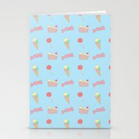 Candy Pattern Stationery Cards