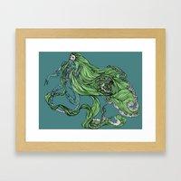 Death Of A Siren Framed Art Print