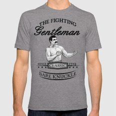 The Fighting Gentlemen Mens Fitted Tee Tri-Grey SMALL