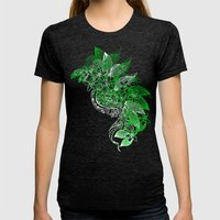 Water Dance Womens Fitted Tee Tri-Black SMALL