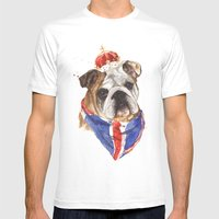 Thank you LONDON - British BULLDOG - Jubilee Art Mens Fitted Tee White SMALL