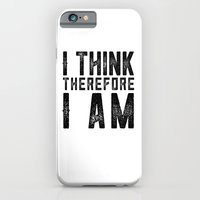 I think, therefore I am - on white iPhone 6 Slim Case