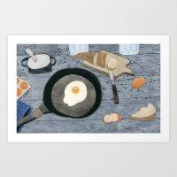 Egg For Breakfast Art Print