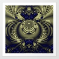 Art Print featuring Fractal Abstract 20 by Harvey Warwick