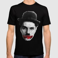 Charlie the Joker Mens Fitted Tee Black SMALL