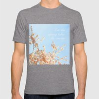 Let The Spring Takes Its… Mens Fitted Tee Tri-Grey SMALL