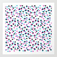Electric Triangles Art Print