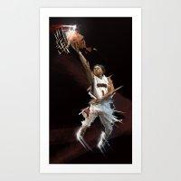 ERVIN X BASKETBALL Art Print