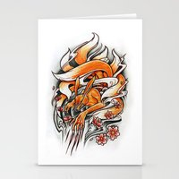 Angry Kyuubi Stationery Cards