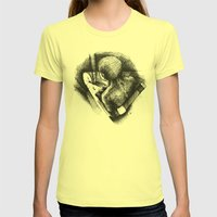 God Always Look At You From Top! Womens Fitted Tee Lemon SMALL