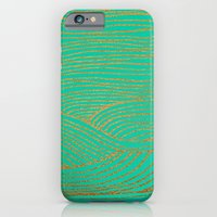iPhone & iPod Case featuring Wind Gold Turquoise by Sandra Arduini