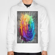 Colorful Flaming Flower Hoody