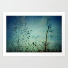 Fleeting Moment - Blue Shades Art Print