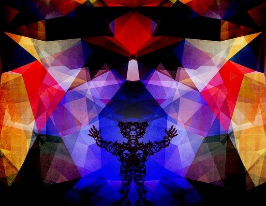 Geometry of The Sun Warrior Art Print