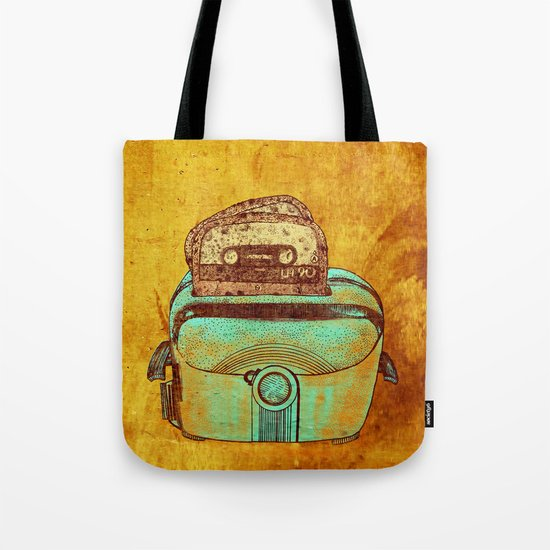 toasted tapes Tote Bag