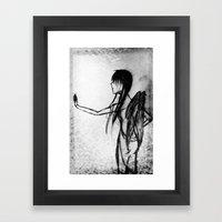 Dirtied Angel Framed Art Print
