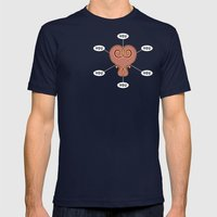 Six Degrees Of Love [Poc… Mens Fitted Tee Navy SMALL