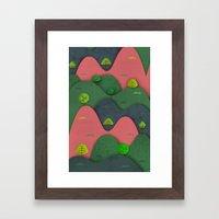 Hills are alive Framed Art Print