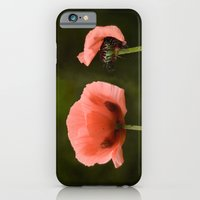 Couple Pink Oriental Poppies iPhone 6 Slim Case