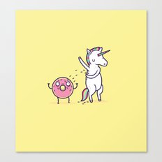 How donuts get sprinkles Canvas Print