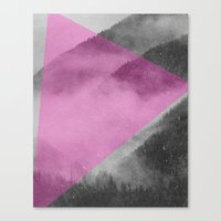 NEON NATURE | Pink Canvas Print