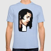 The Feeling of Music Mens Fitted Tee Tri-Blue SMALL