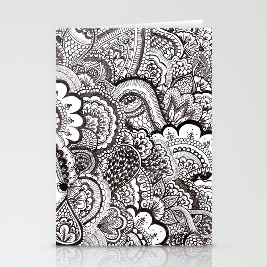 her hair Stationery Card
