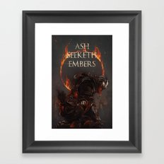 Ash Seeketh Embers Framed Art Print