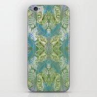 Jungle Print Teal iPhone & iPod Skin