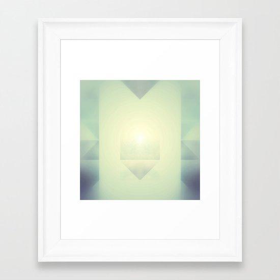 Gold Energy Vibration Framed Art Print