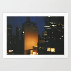 Manhattan After Dark Art Print