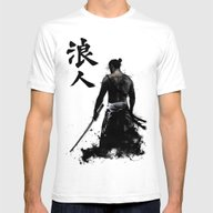 Ronin Mens Fitted Tee White SMALL