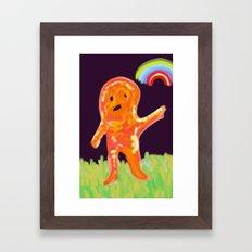 el monstruo anaranjado Framed Art Print