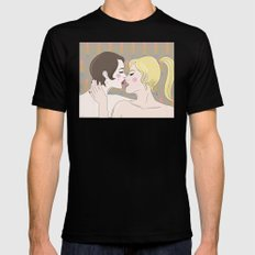 Kiss Mens Fitted Tee SMALL Black