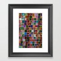 Glass Tiles Framed Art Print