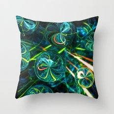 Marble Mayhem Throw Pillow
