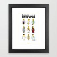 Golden Age Of Hollywood Framed Art Print