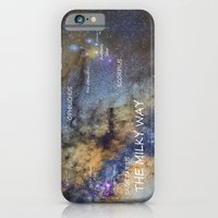 Star map version: The Milky Way and constellations Scorpius, Sagittarius and the star Antares. iPhone 6 Slim Case