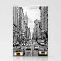 5th Avenue NYC Yellow Cabs Stationery Cards