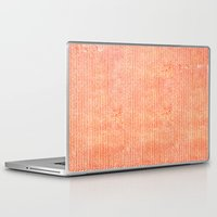 chevron Laptop & iPad Skins featuring Stockinette Orange by Elisa Sandoval