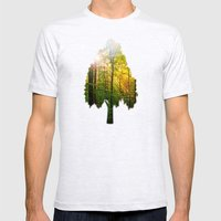 Morning sun in the forest Mens Fitted Tee Ash Grey SMALL